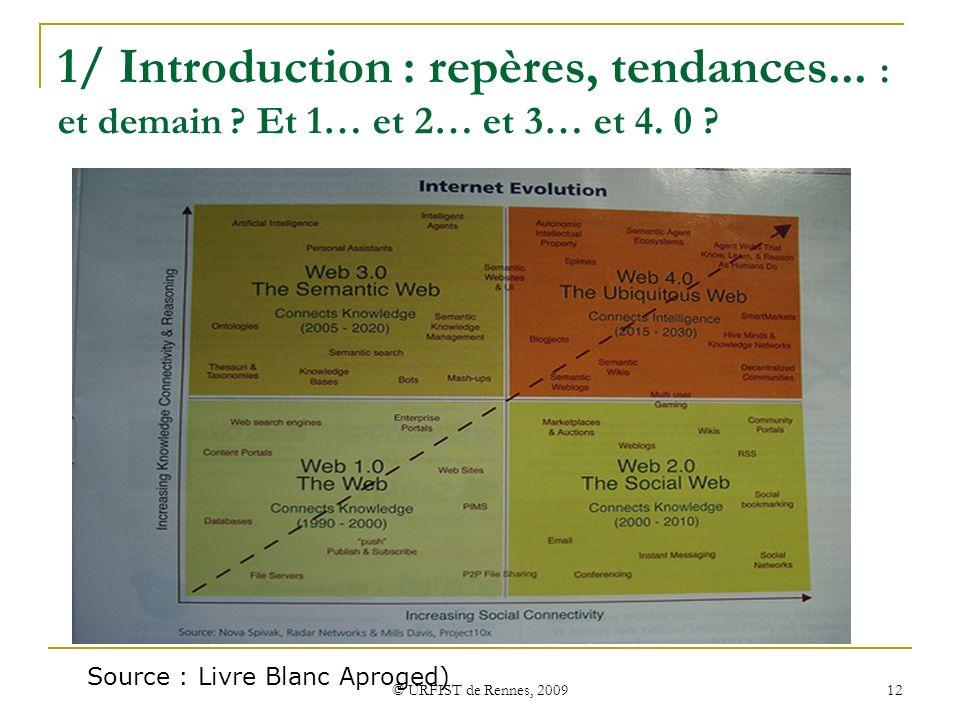 1/ Introduction : repères, tendances. : et demain