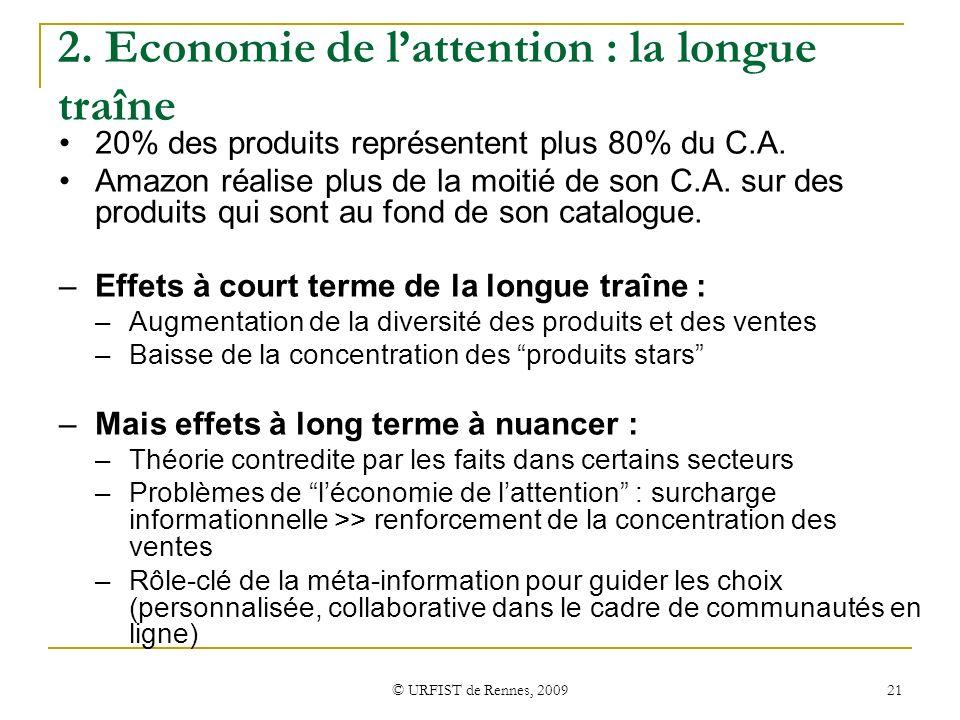 2. Economie de l'attention : la longue traîne