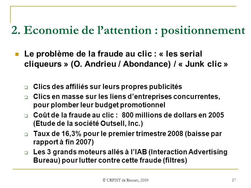 2. Economie de l'attention : positionnement