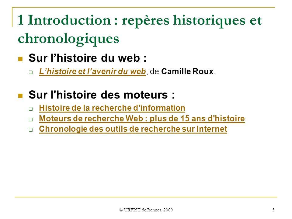 1 Introduction : repères historiques et chronologiques