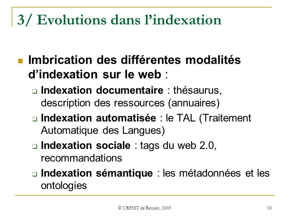 3/ Evolutions dans l'indexation