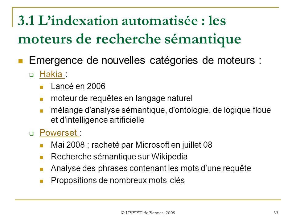 3.1 L'indexation automatisée : les moteurs de recherche sémantique