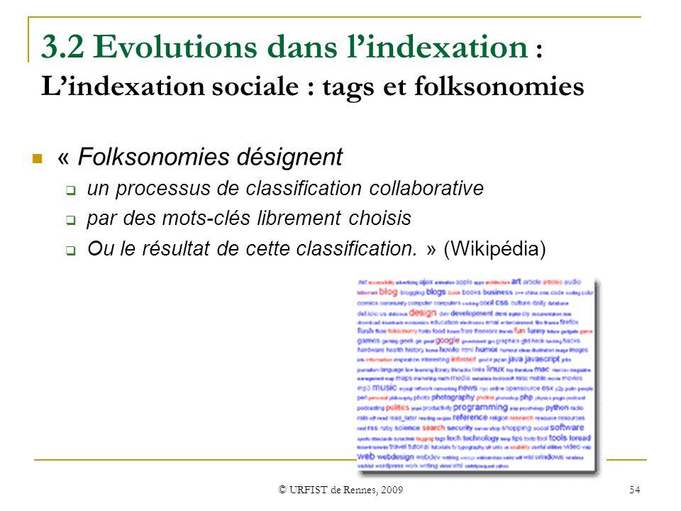 3.2 Evolutions dans l'indexation : L'indexation sociale : tags et folksonomies