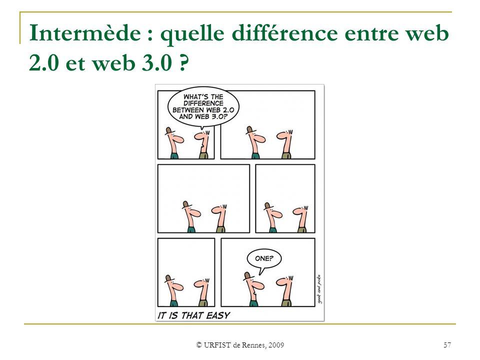 Intermède : quelle différence entre web 2.0 et web 3.0