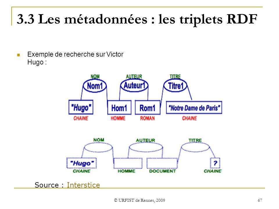 3.3 Les métadonnées : les triplets RDF