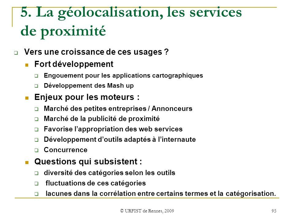 5. La géolocalisation, les services de proximité