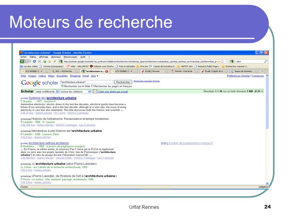 Moteurs de recherche Urfist Rennes