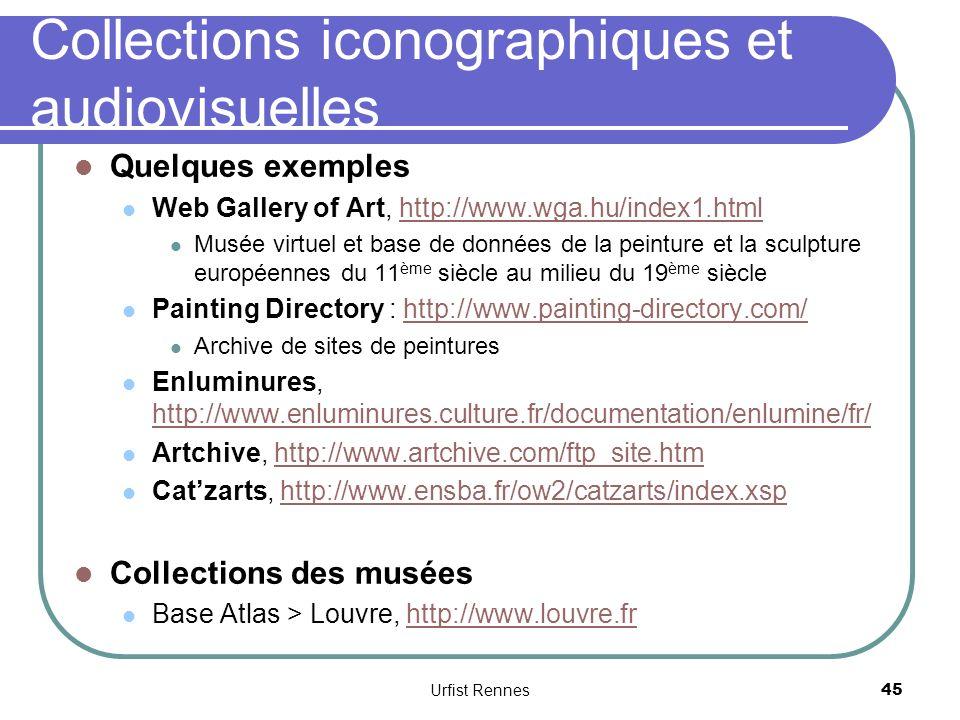 Collections iconographiques et audiovisuelles