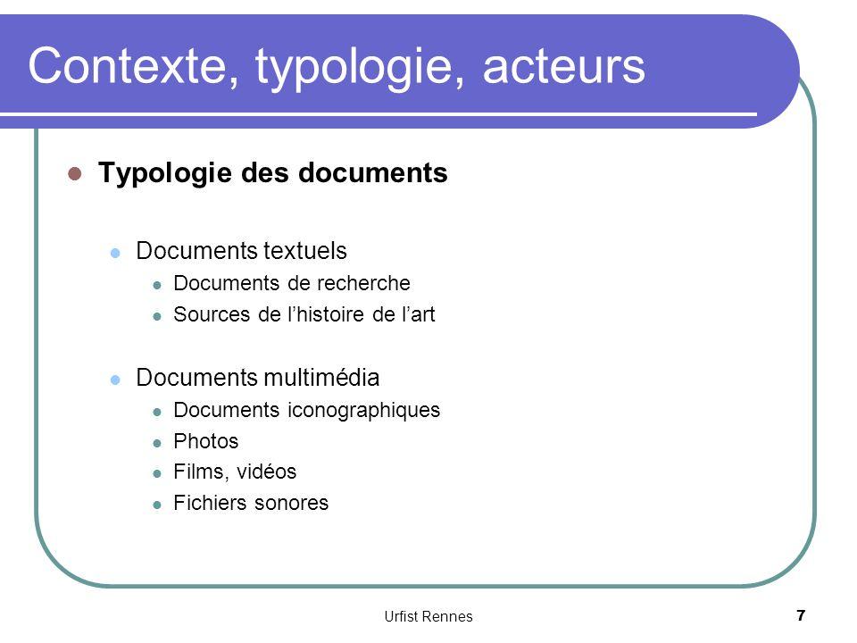 Contexte, typologie, acteurs