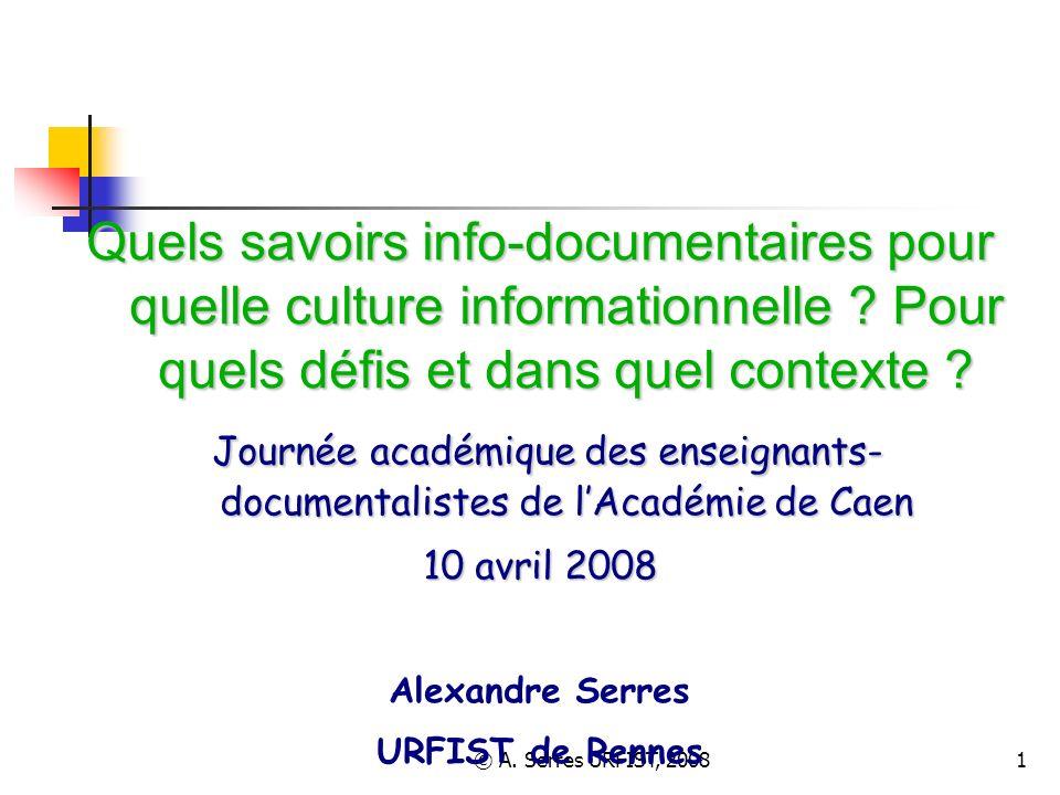 © A. Serres URFIST, 2008