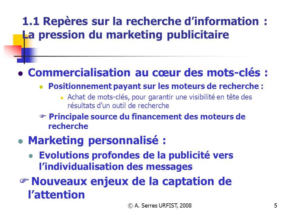 Commercialisation au cœur des mots-clés :