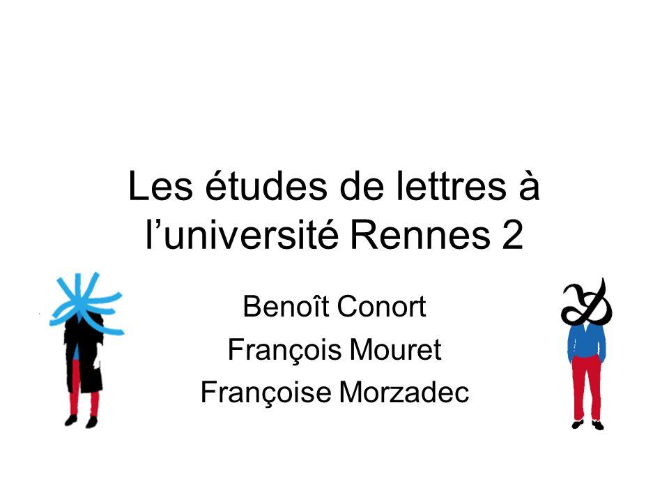 Les études de lettres à l'université Rennes 2