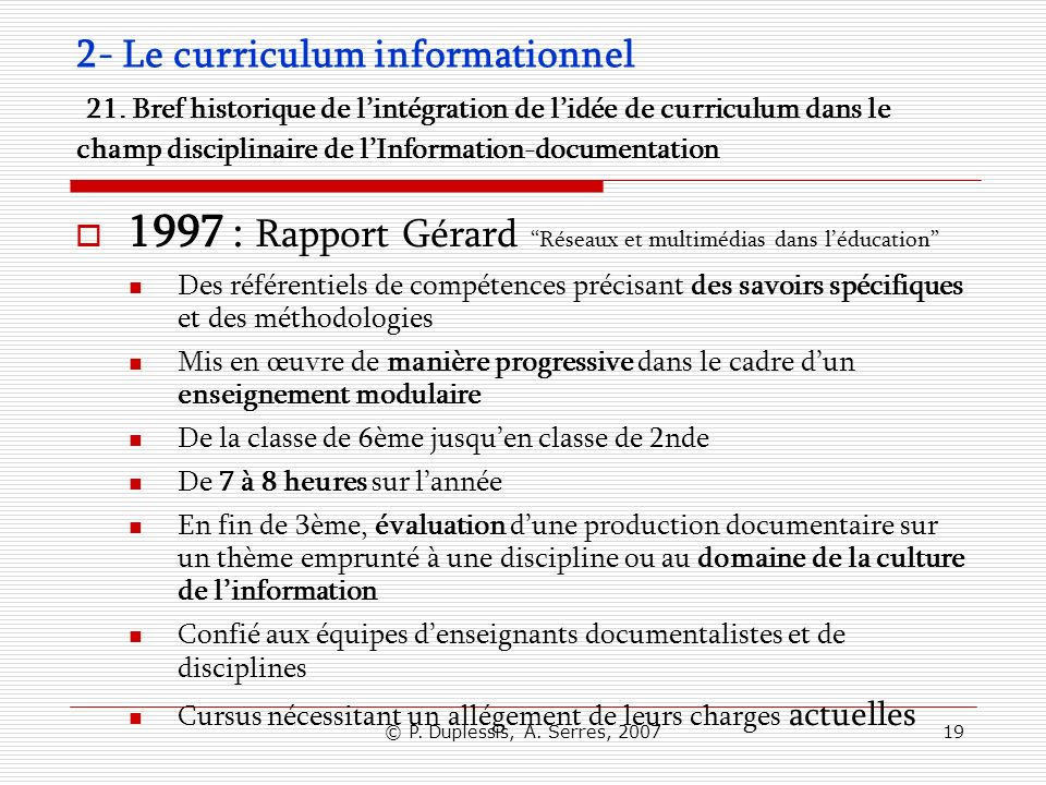 1997 : Rapport Gérard Réseaux et multimédias dans l'éducation