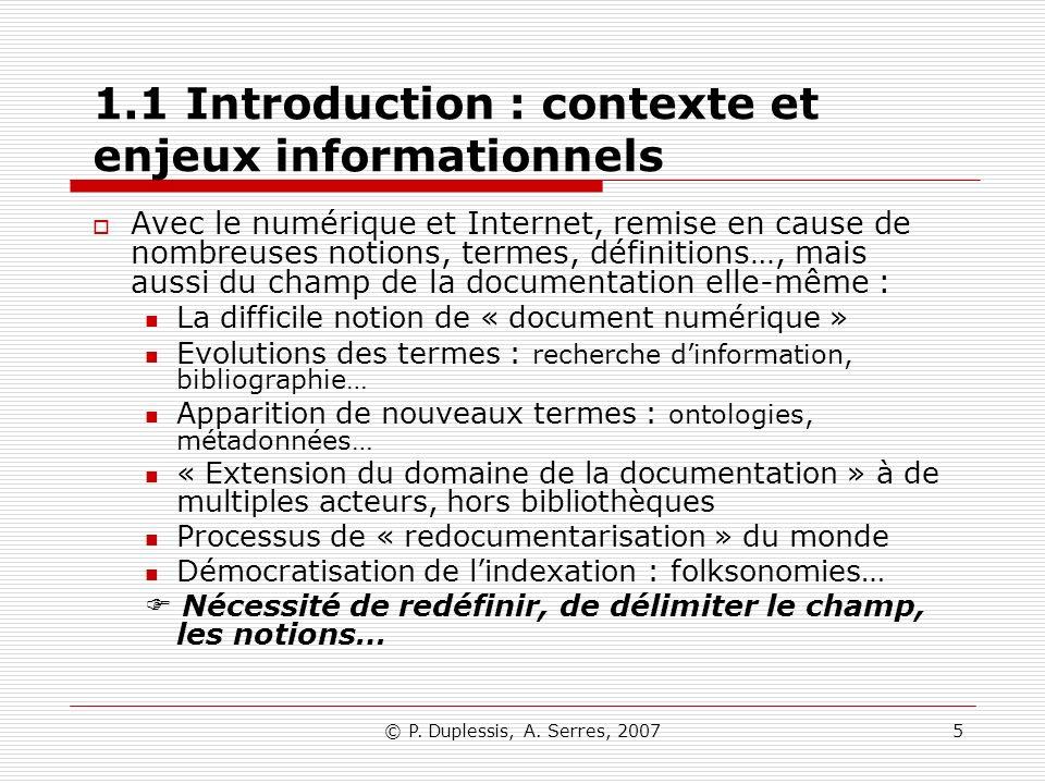 1.1 Introduction : contexte et enjeux informationnels