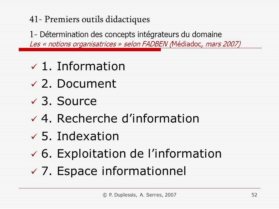 4. Recherche d'information 5. Indexation