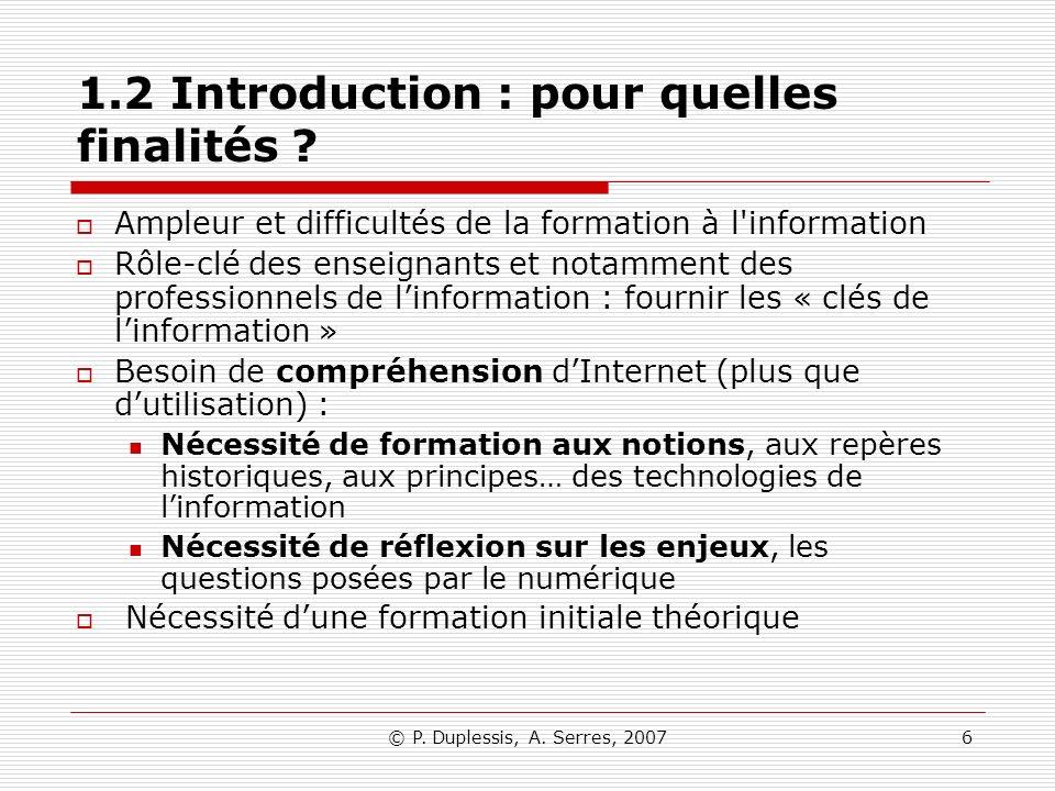 1.2 Introduction : pour quelles finalités