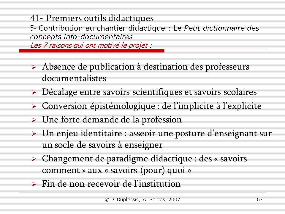 Absence de publication à destination des professeurs documentalistes