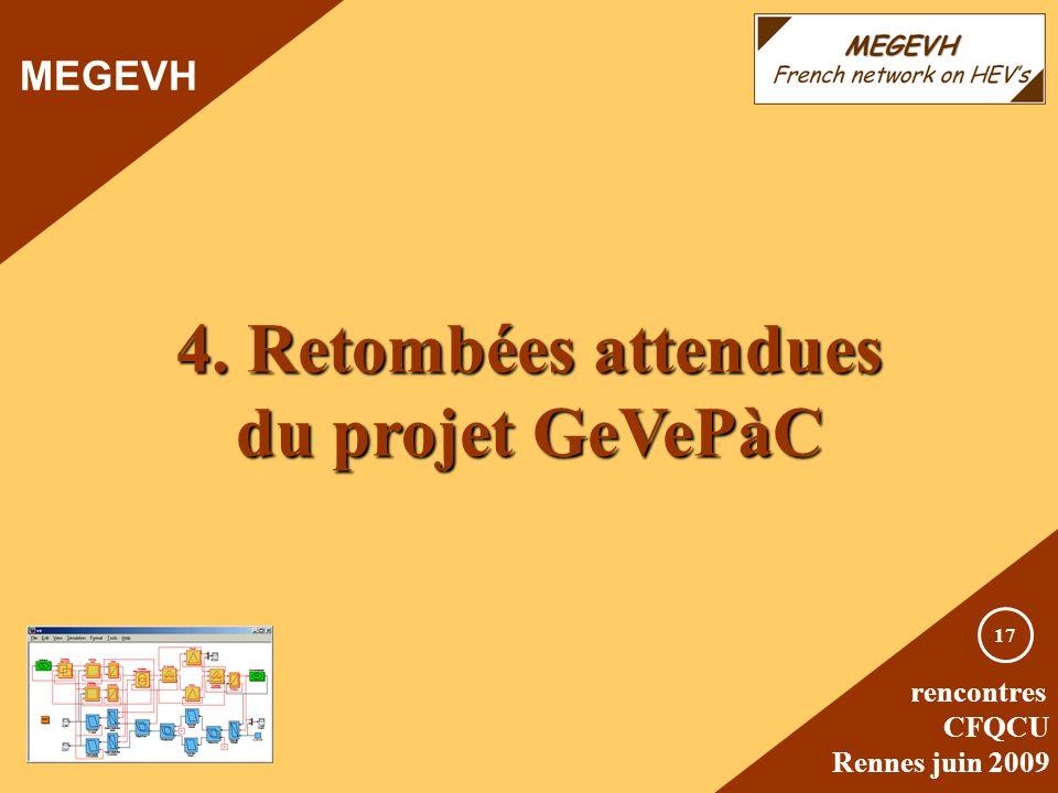 4. Retombées attendues du projet GeVePàC
