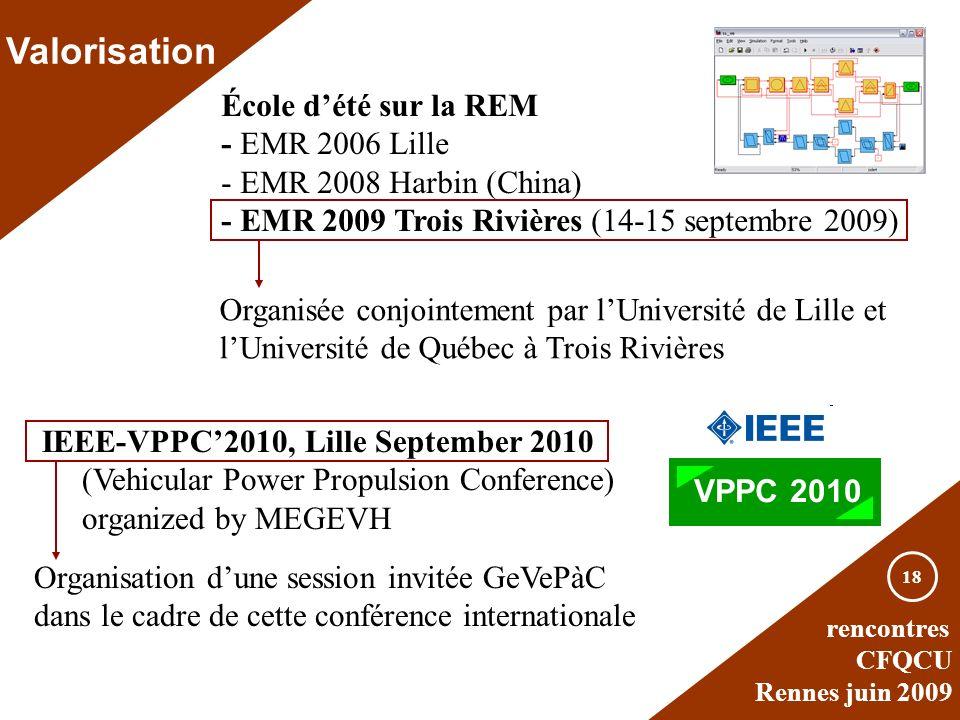 Valorisation École d'été sur la REM - EMR 2006 Lille