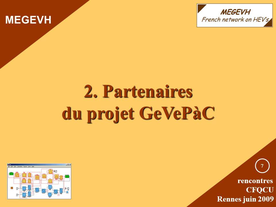 2. Partenaires du projet GeVePàC