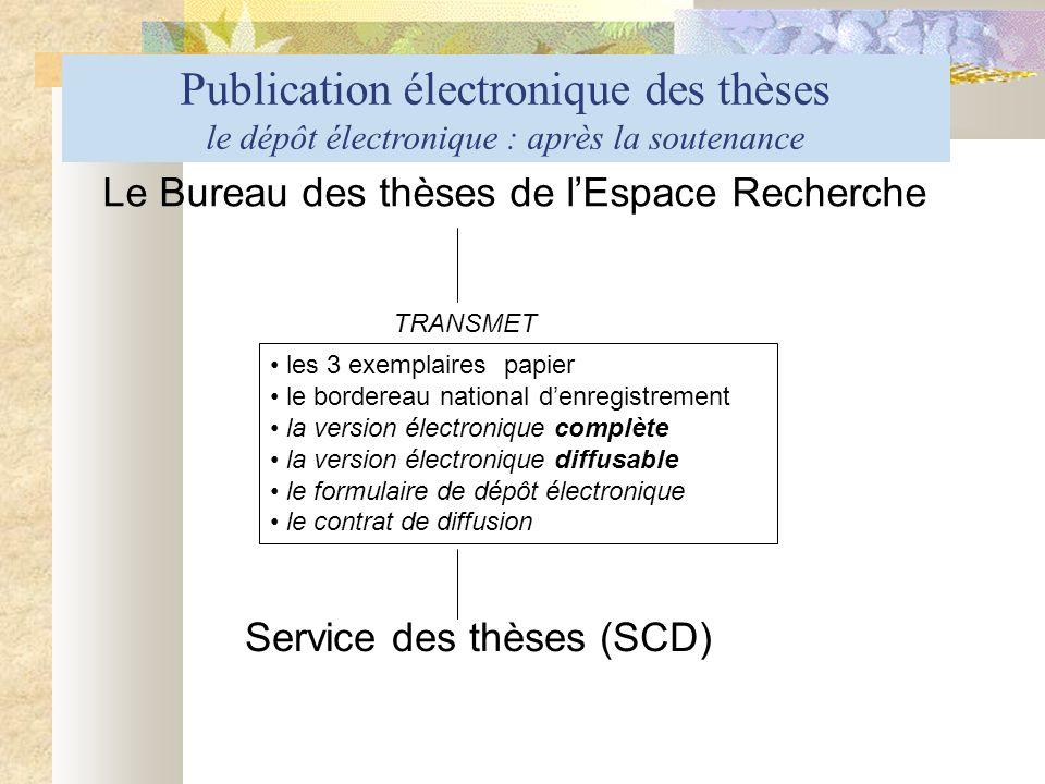 Le Bureau des thèses de l'Espace Recherche