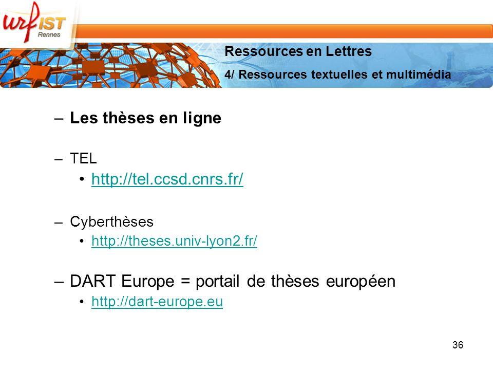 DART Europe = portail de thèses européen