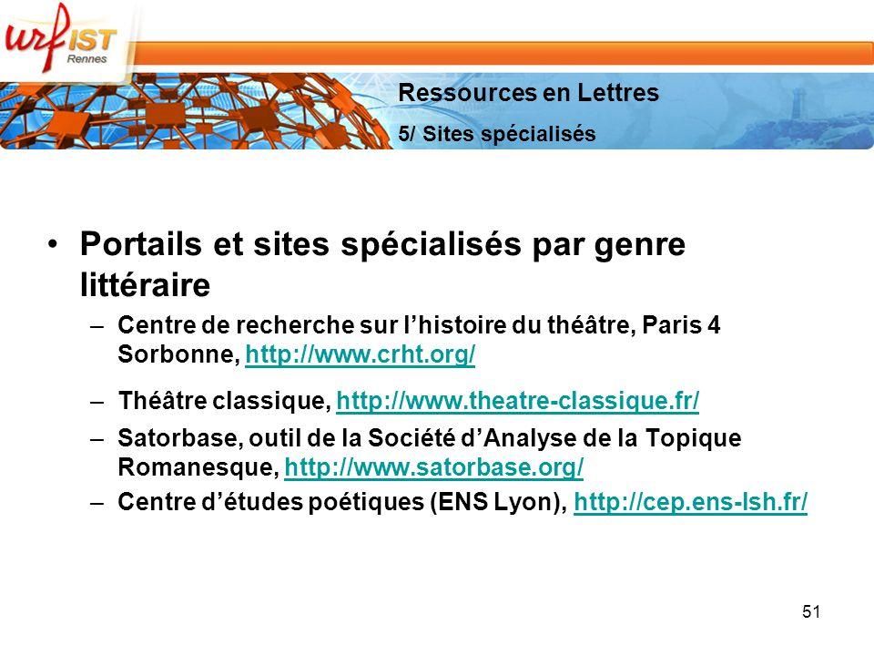 Portails et sites spécialisés par genre littéraire