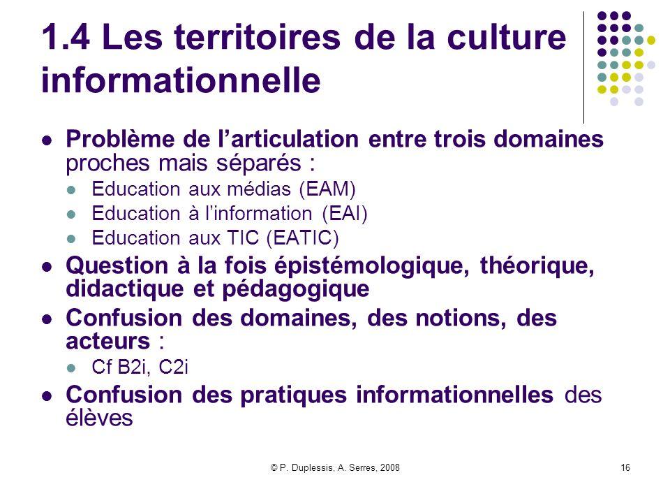 1.4 Les territoires de la culture informationnelle