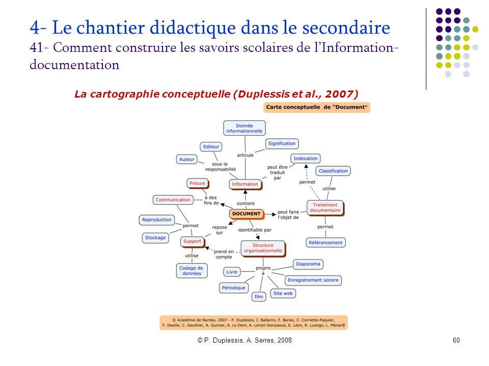 4- Le chantier didactique dans le secondaire 41- Comment construire les savoirs scolaires de l'Information-documentation