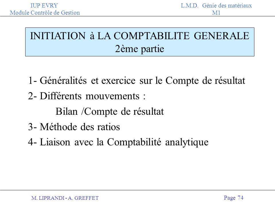 INITIATION à LA COMPTABILITE GENERALE