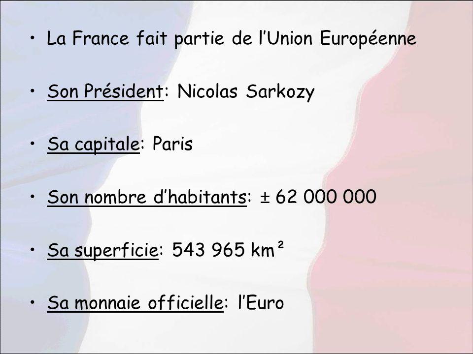 La France fait partie de l'Union Européenne