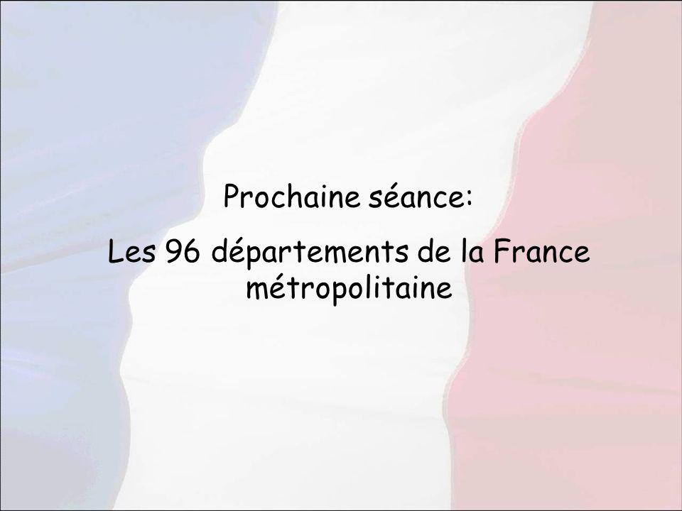 Les 96 départements de la France métropolitaine