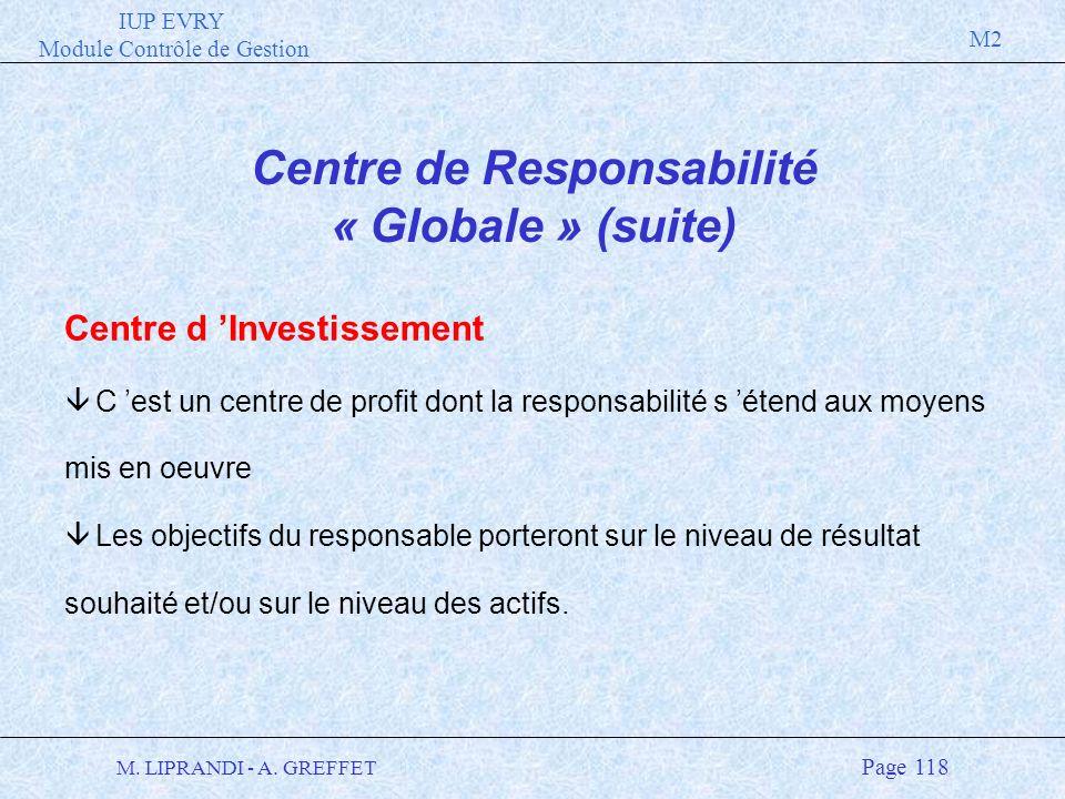 Centre de Responsabilité