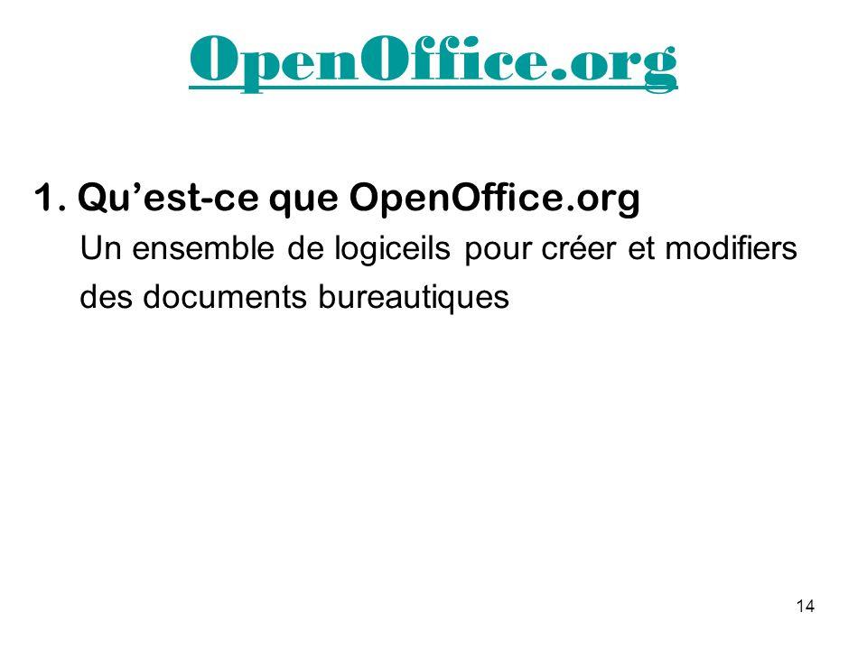 OpenOffice.org 1. Qu'est-ce que OpenOffice.org