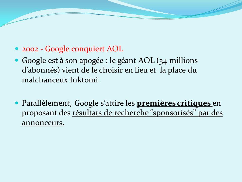 2002 - Google conquiert AOL