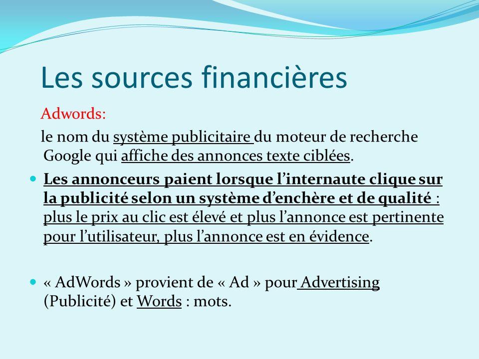 Les sources financières