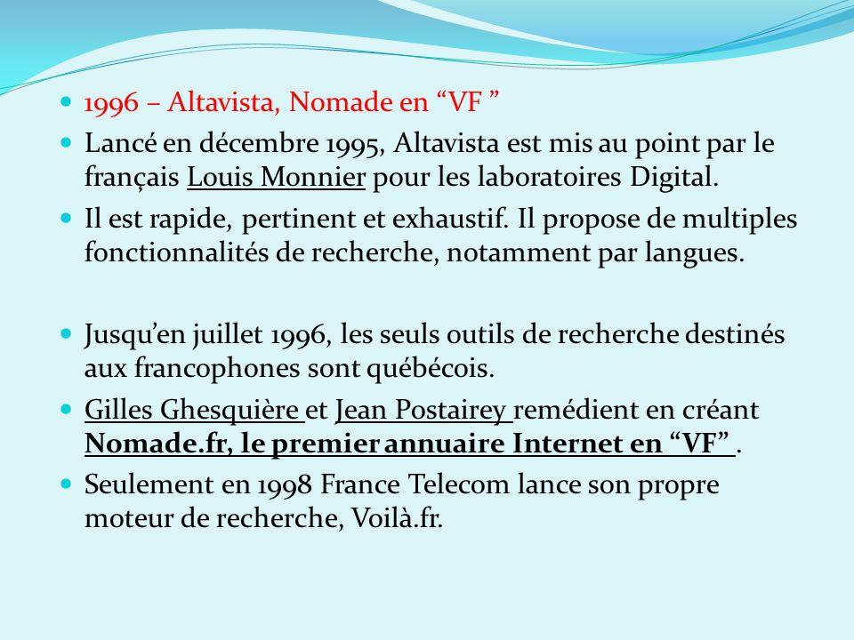 1996 – Altavista, Nomade en VF