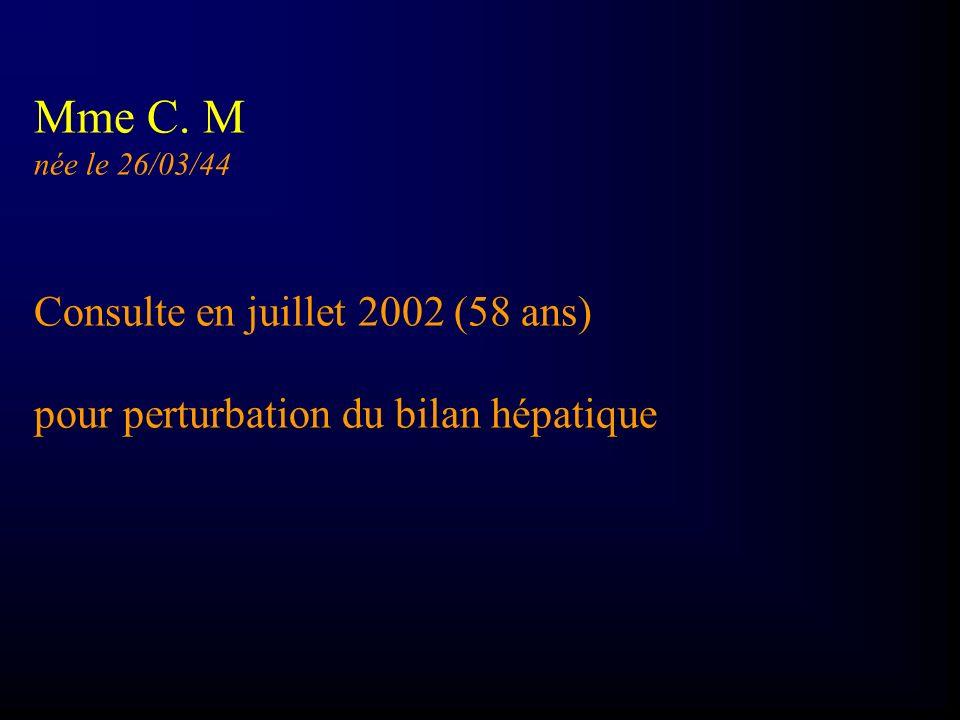 Mme C. M Consulte en juillet 2002 (58 ans)