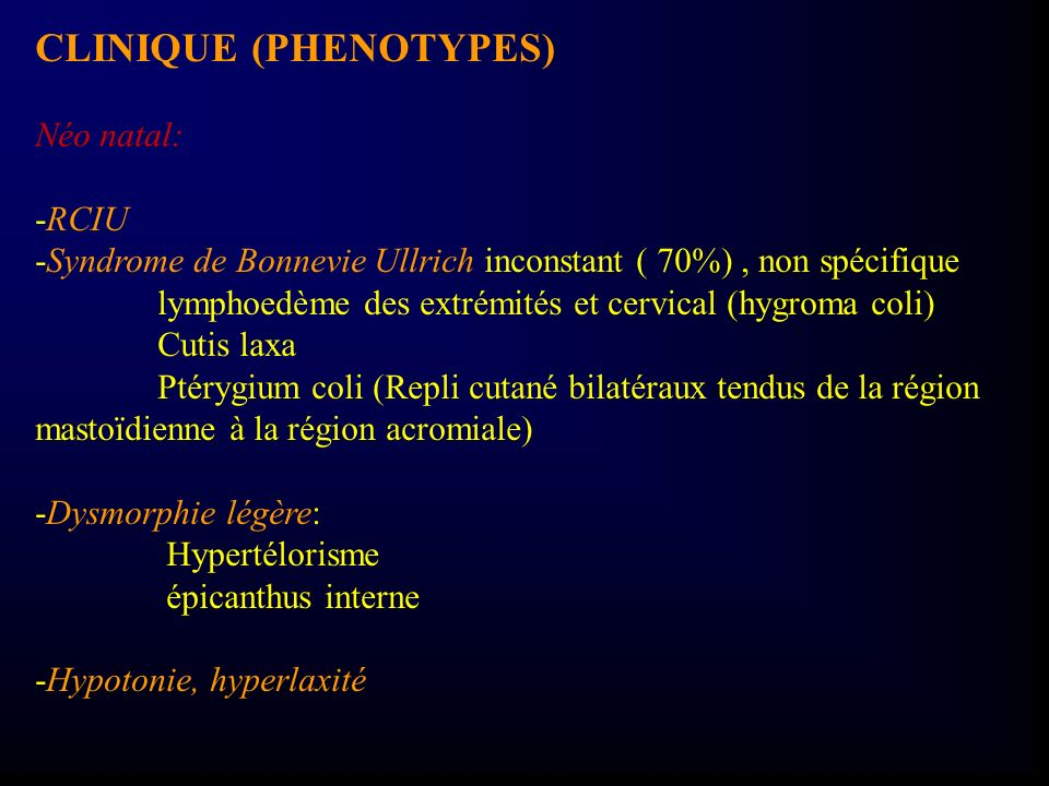 CLINIQUE (PHENOTYPES)