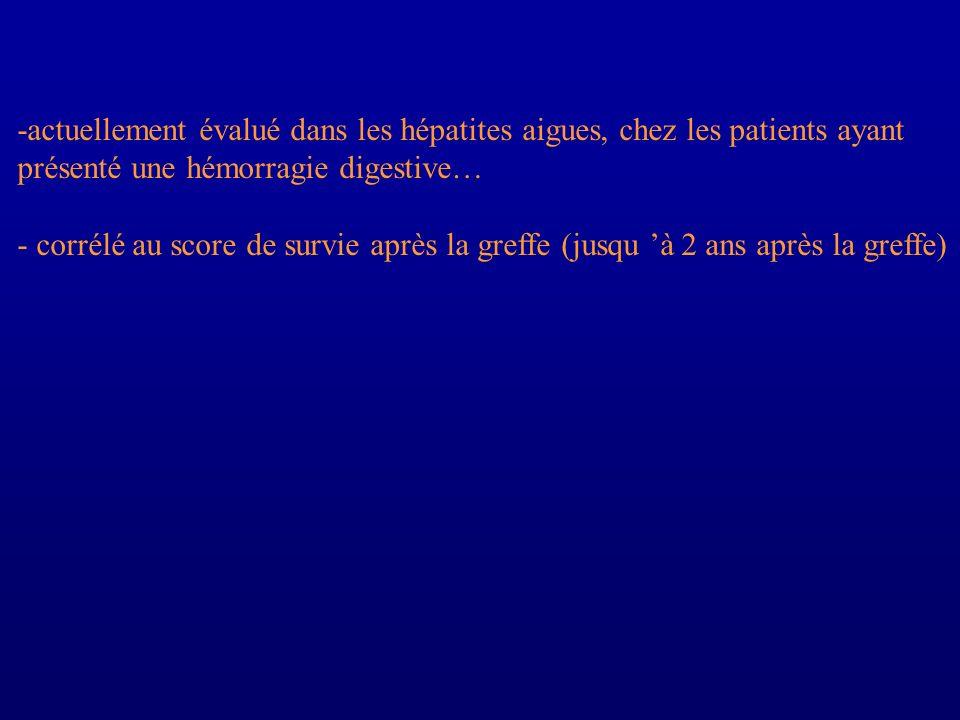 -actuellement évalué dans les hépatites aigues, chez les patients ayant