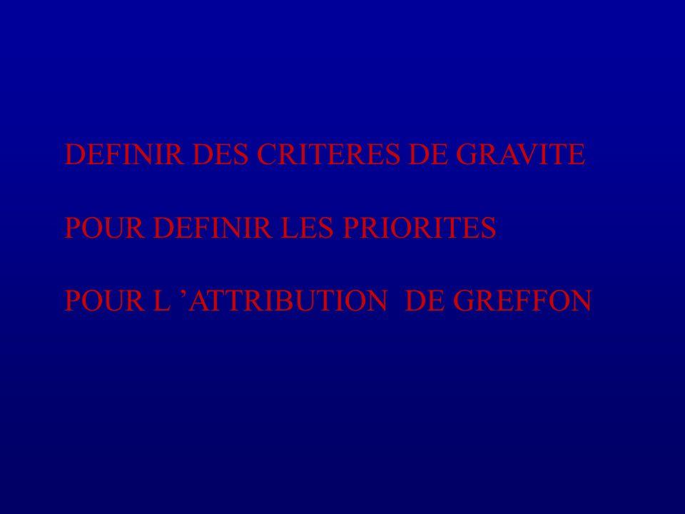 DEFINIR DES CRITERES DE GRAVITE