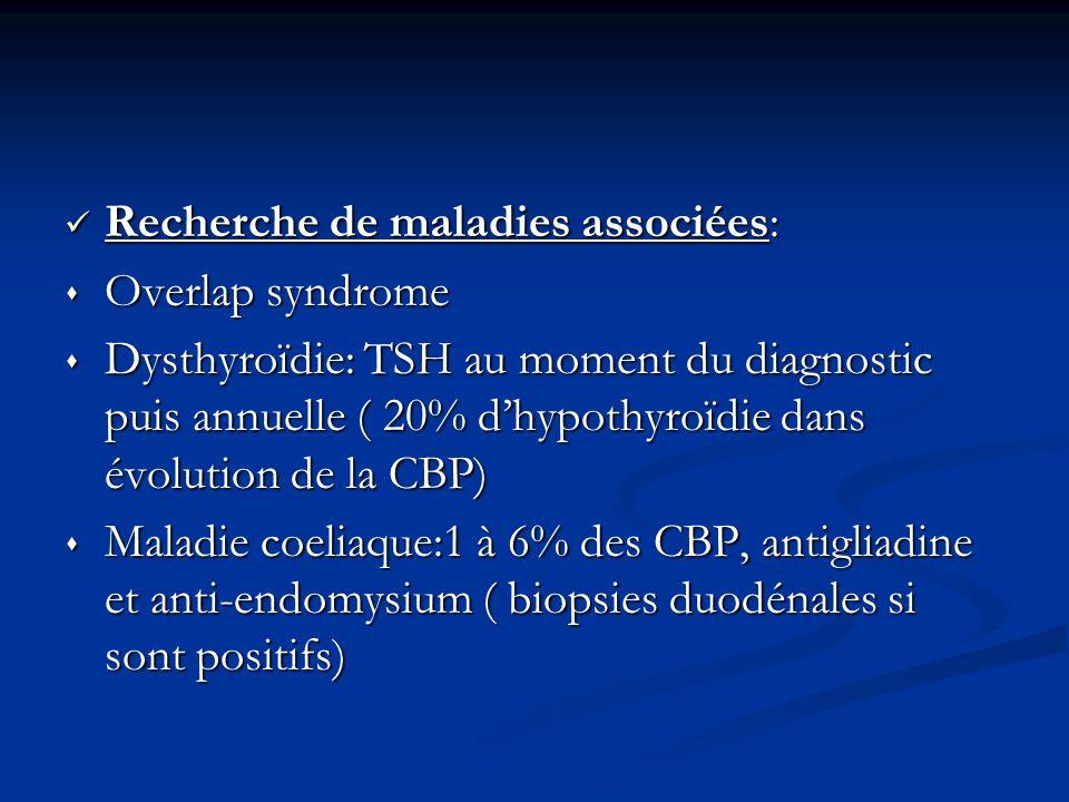 Recherche de maladies associées: