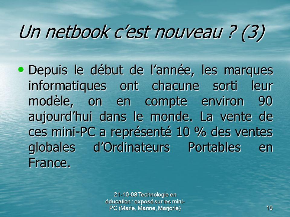 Un netbook c'est nouveau (3)
