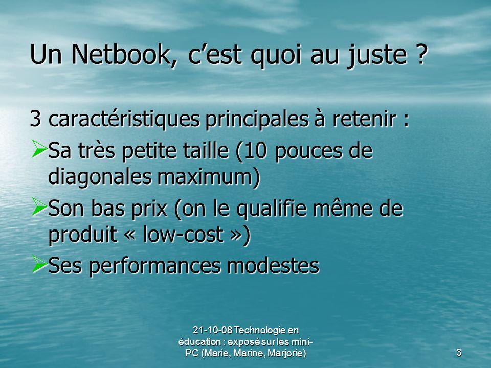 Un Netbook, c'est quoi au juste