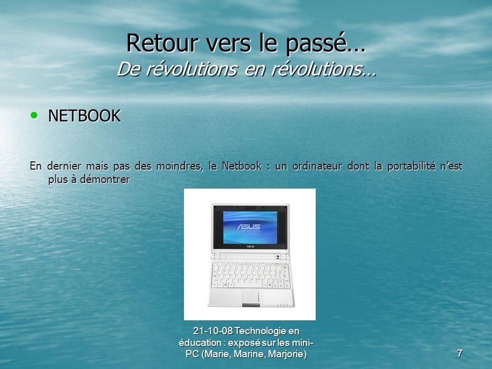 Retour vers le passé… De révolutions en révolutions…