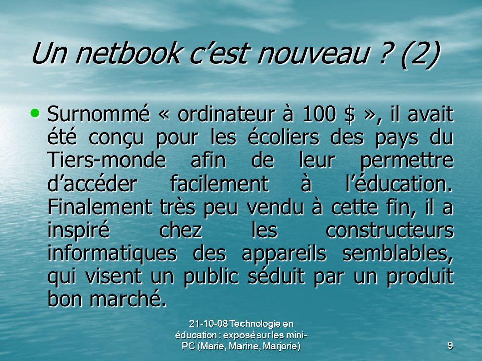 Un netbook c'est nouveau (2)