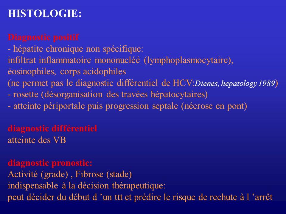 HISTOLOGIE: Diagnostic positif - hépatite chronique non spécifique: