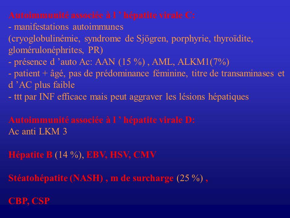 Autoimmunité associée à l ' hépatite virale C: