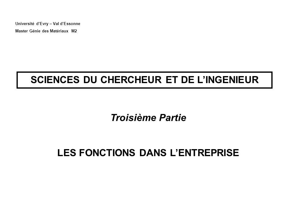 SCIENCES DU CHERCHEUR ET DE L'INGENIEUR