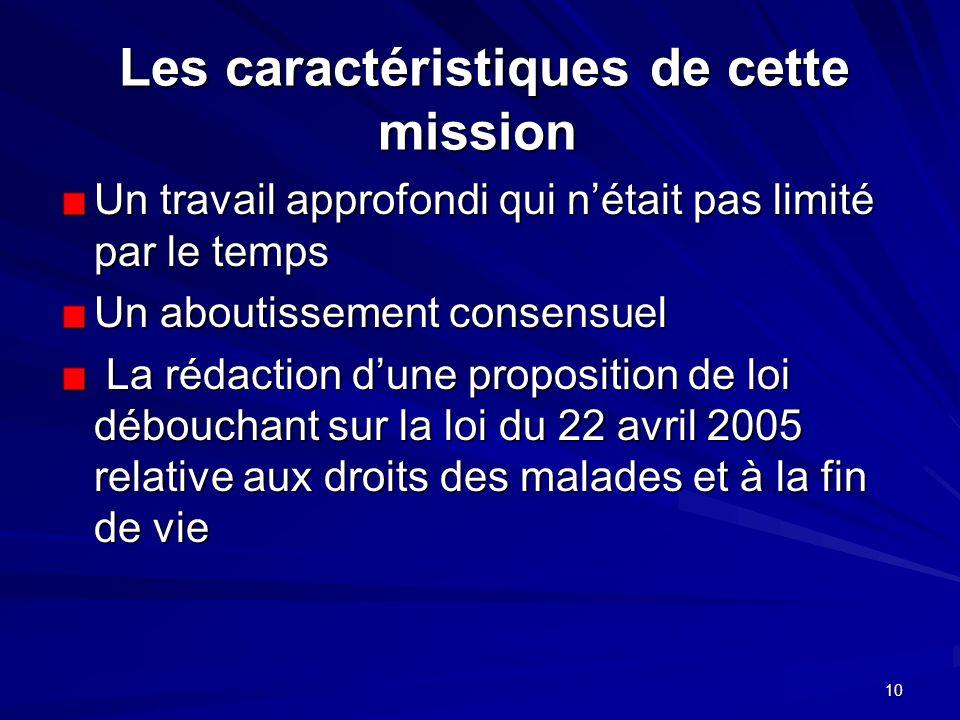 Les caractéristiques de cette mission
